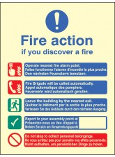 Multi-lingual Fire Action Manual No Lift