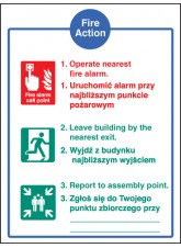 Fire Action Auto Dial without Lift (English/polish)