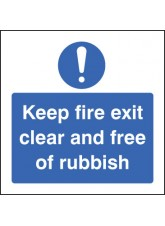 Keep Fire Exit Clear and Free of Rubbish