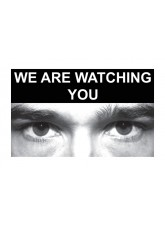 Eye Photo Sign We Are Watching You *For use with C,D,E Sizes*