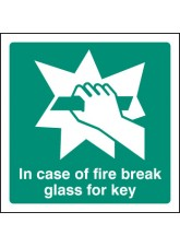 In Event of Fire Break Glass for Key