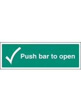 Push Bar to Open
