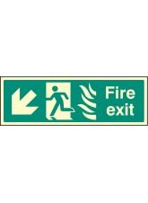 Fire Exit Down Left Photo HTM