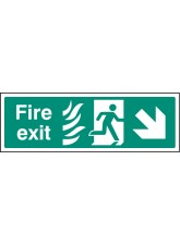 HTM Fire Exit - Arrow Down Right