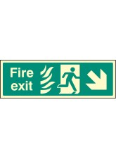 Fire Exit Down Right Photo HTM
