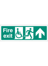 Disabled Fire Exit Arrow Ahead