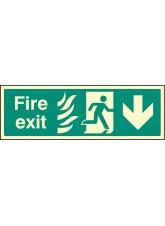 Fire Exit Down Photo HTM