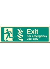 Exit for Emergency use Only - Left HTM