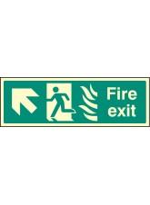 Fire Exit Arrow Up Left HTM