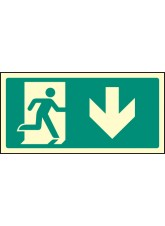 Intermediate Fire Exit Marker - Arrow Down