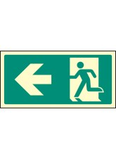 Intermediate Fire Exit Marker - Arrow Left
