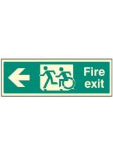 Disabled Fire Exit Arrow Left - Inclusive Design