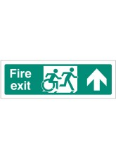 Disabled Fire Exit Arrow Up - Inclusive Design