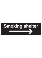 Smoking Shelter Right Arrow (white/black)