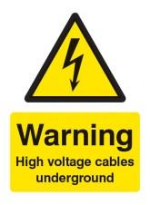 Warning High Voltage Cables Underground