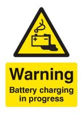 Warning Battery Charging in Progress