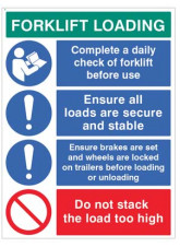 Forklift Loading Daily checks, secure loads…