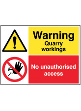 Warning Quarry workings, keep out