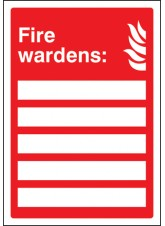 Your Fire Wardens are - Adapt-a-Sign