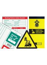 Forklift Work Platform Inspection Check Book