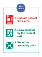 Fire Action - Quick Fix Sign