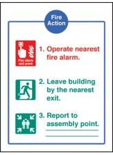 Fire Action - Quick Fix Sign