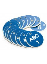 Engraved Valve Tags - 38mm Diameter