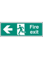 Fire Exit Left Arrow - Quick Fix Sign