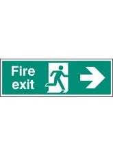 Fire Exit Right Arrow - Quick Fix Sign
