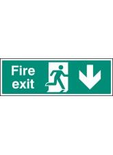 Fire Exit Down - Quick Fix Sign