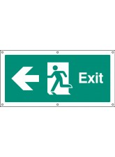 Exit Left - Banner with Eyelets