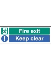Fire Exit Keep Clear - Quick Fix Sign