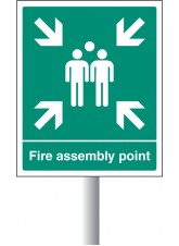 Fire Assembly Point - Aluminium with Channelling - 450 x 600mm