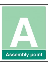 Special Assembly Point - Aluminium with Channelling - 450 x 600mm