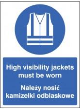 High Visibility Jackets Must Be Worn (English/polish)