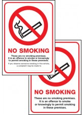 Double Sided Scotland No Smoking Premise