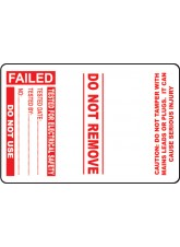 Roll of 100 PAT Test Cable Wrap Labels - Failed - 75 x 50mm