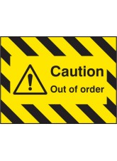 Door Screen Sign- Caution Out of Order - 600 x 450mm