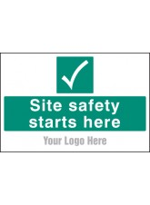 Site Safety Starts Here - Site Saver Sign - 600 x 400mm