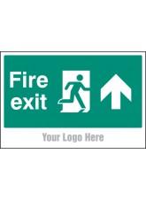 Fire Exit, Arrow Up - Site Saver Sign - 600 x 400mm