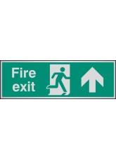Fire Exit Arrow Ahead - Aluminium - 300 x 100mm