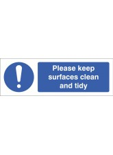 Please Keep Surfaces Clean and Tidy