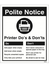 Printer - Do's & Don'ts