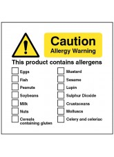 Caution Allergy Warning this Product Conatins Allergens