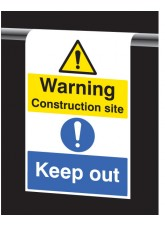 Roll Top - Warning Construction Site, Keep Out