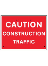 Re-Flex Sign - Caution construction traffic