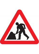 Fold Up Sign - Men At Work - 600mm Triangle Sign