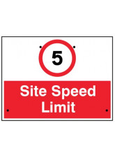 Re-Flex Sign - 5mph Site speed limit