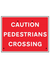 Re-Flex Sign - Caution pedestrians crossing