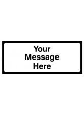 Supplementary plate (Your Message here) Class RA1 zintec